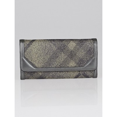 Burberry Silver Shimmer Check Degrade Continental Wallet