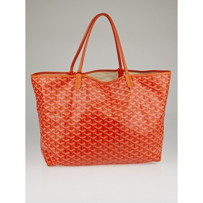 Goyard Orange Chevron Print Coated Canvas St. Louis GM Tote Bag