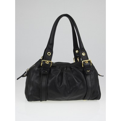 Miu Miu Black Leather Soft Satchel Bag