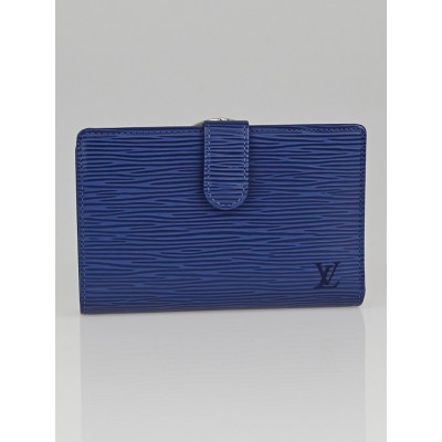 Louis Vuitton Myrtille Blue Epi Leather Porte Feuille Vienoise French Purse Wallet