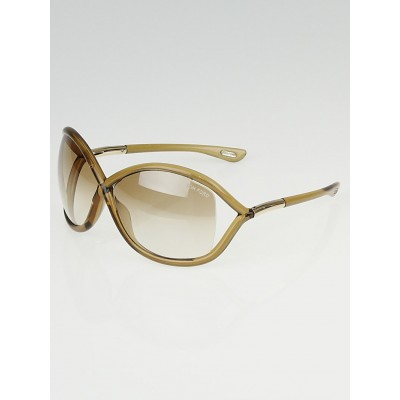 Tom Ford Beige Frame Gradient Tint Whitney Sunglasses