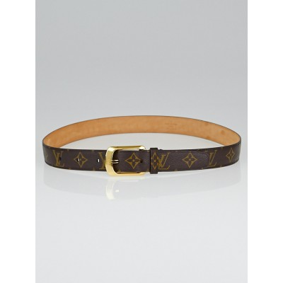 Louis Vuitton Monogram Canvas Ellipse Belt Size 85/34