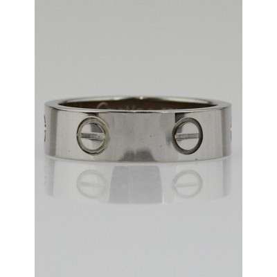 Cartier 18k White Gold LOVE Ring Size 6.75/54