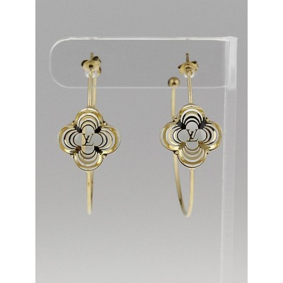 Louis Vuitton Gold Resin a La Rolie Hoop Earrings