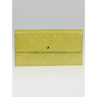 Louis Vuitton Vert Impression Monogram Vernis Sarah Wallet