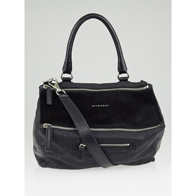 Givenchy Black Ponyhair/Leather Mix Medium Pandora Bag