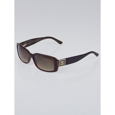 Chanel Bordeaux/Brown Square Frame CC Sunglasses - 5115-Q