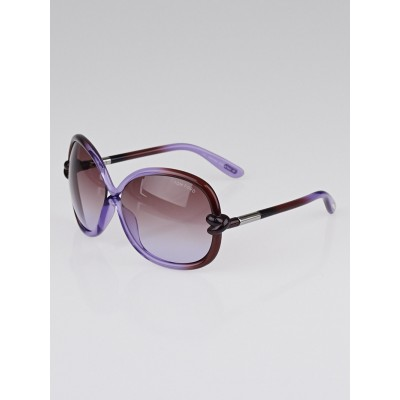 Tom Ford Purple Frame Gradient Tint Sonja Sunglasses-TF185
