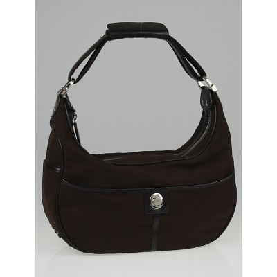 Tod's Brown Nylon Shoulder Bag