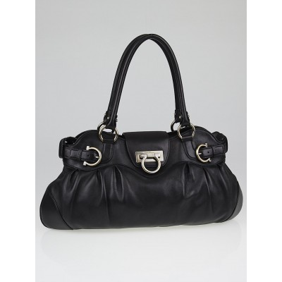 Salvatore Ferragamo Black Leather Marisa Shoulder Bag