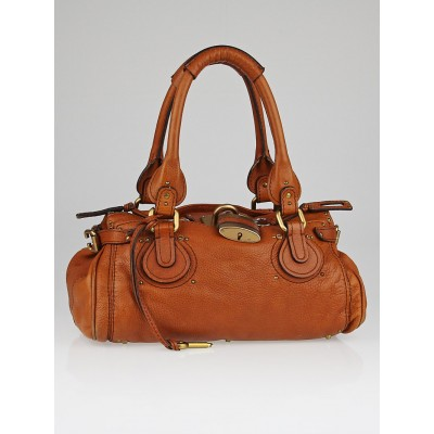 Chloe Brown Leather Paddington Medium Satchel Bag