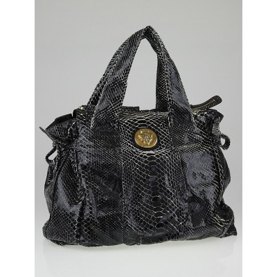 Gucci Black Python Hysteria Large Tote Bag