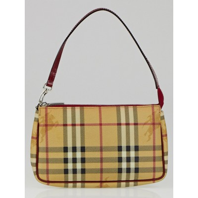 Burberry Haymarket Check Coated Canvas Pochette Bag