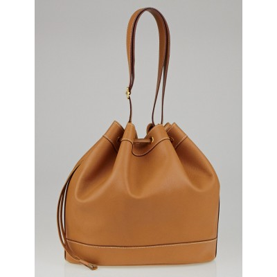 Hermes 28cm Gold Courchevel Leather Market Bag