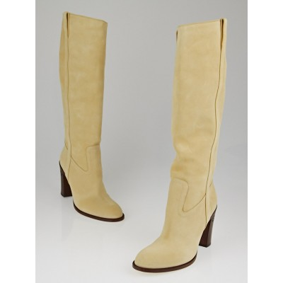 Gucci Soft Sand Suede Tall Boots Size 8.5B
