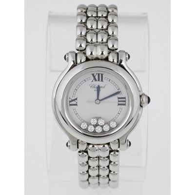 Chopard Stainless Steel Happy Sport 7 Floating Diamonds Ladies Watch