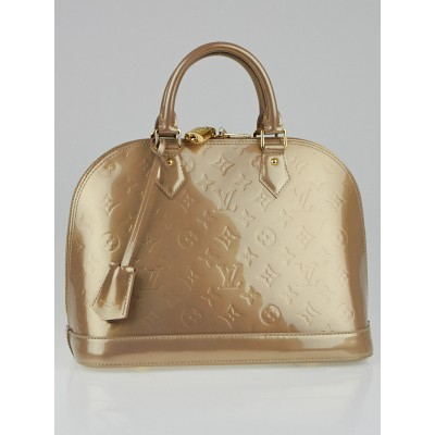 Louis Vuitton Beige Poudre Monogram Vernis Alma PM Bag