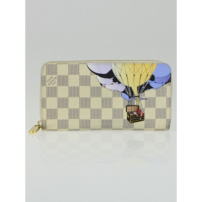 Louis Vuitton Limited Edition Damier Azur Canvas Illustre Zippy Wallet