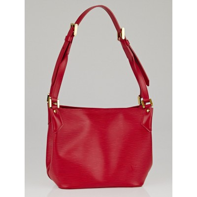 Louis Vuitton Rouge Epi Leather Mandara PM Bag