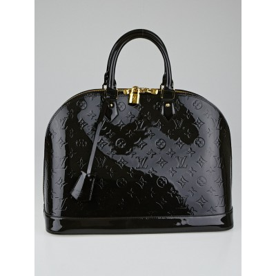 Louis Vuitton Terre d'Ombre Monogram Vernis Alma GM Bag