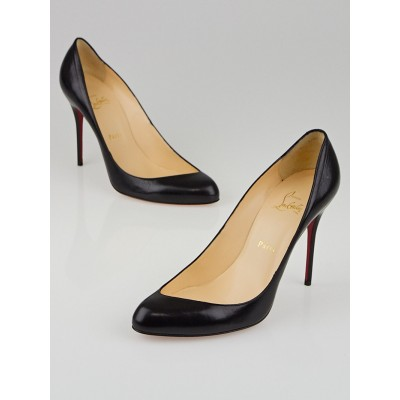 Christian Louboutin Black Leather Maudissima 100 Pumps Size 9/39.5