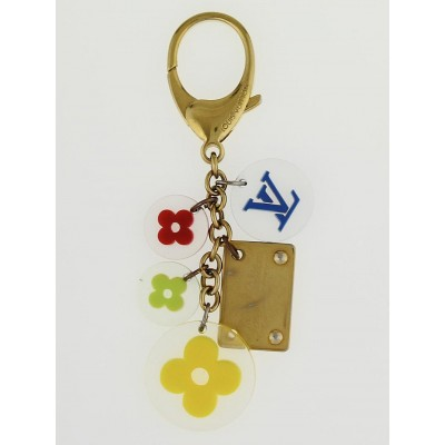 Louis Vuitton Multicolor Resin Fleurs Key Holder and Bag Charm