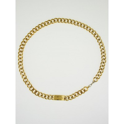 Chanel Goldtone Chain ID Belt