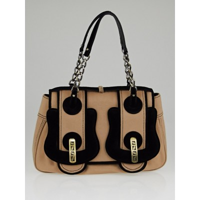 Fendi Beige Wool Borsa Catene B Bag