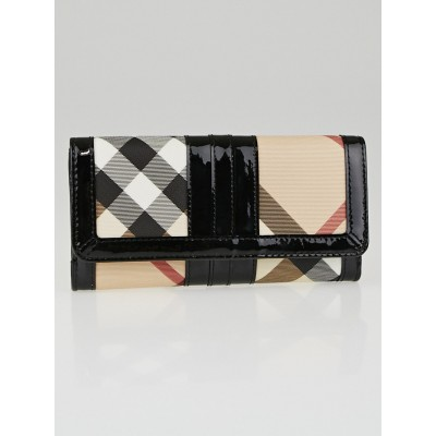 Burberry Supernova Check Coated Canvas Classic ID Continental Wallet