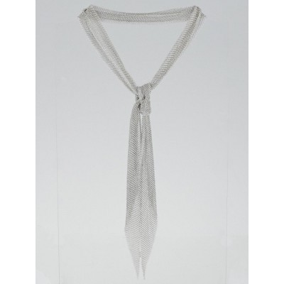 Tiffany & Co. Sterling Silver Elsa Peretti Small Mesh Scarf Necklace