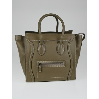 Celine Souris Drummed Leather Mini Luggage Tote Bag