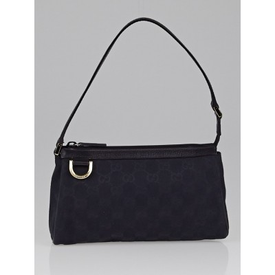 Gucci Black GG Canvas Abbey D Ring Pochette Bag