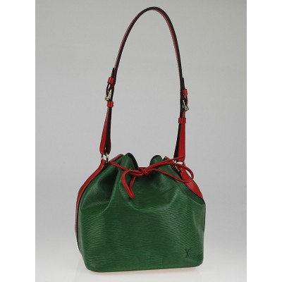 Louis Vuitton Borneo Green/Red Epi Leather Petit Noe Bag