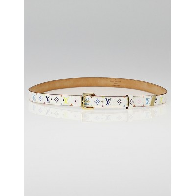 Louis Vuitton White Monogram Multicolore Belt Size 80/32