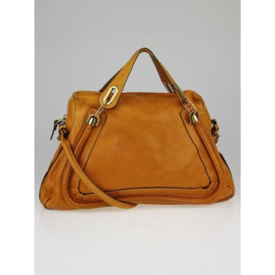 Chloe Yellow Pebbled Calfskin Leather Large Paraty Bag