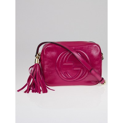 Gucci Pink Patent Leather Soho Disco Small Shoulder Bag