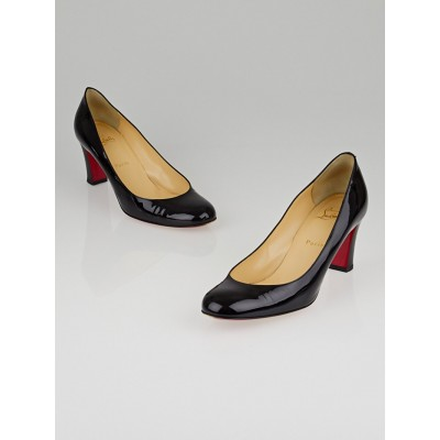 Christian Louboutin Black Patent Leather Miss Tack Pumps Size 10/40.5