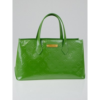 Louis Vuitton Vert Tonic Monogram Vernis Wilshire PM Bag