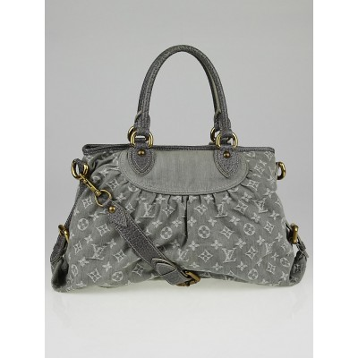 Louis Vuitton Grey Denim Monogram Denim Neo Cabby MM Bag