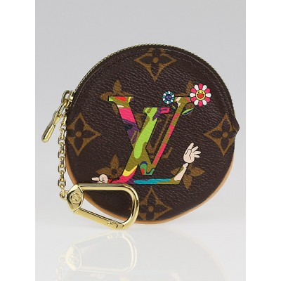 Louis Vuitton Limited Edition Takashi Murakami MOCA Monogram Hands Round Coin Purse