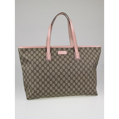 Gucci Beige GG Coated Canvas Large Tote Bag