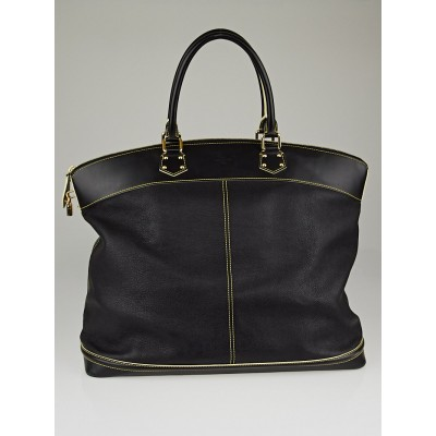 Louis Vuitton Black Suhali Leather Lockit Voyage Bag