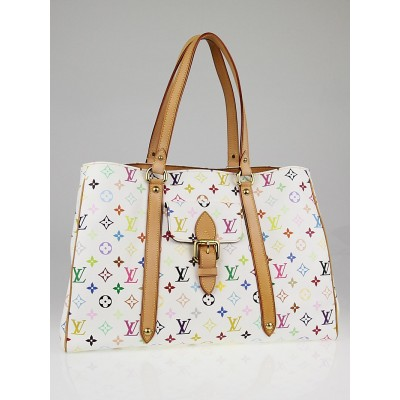 Louis Vuitton White Multicolore Monogram Aurelia GM Bag