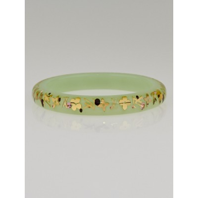 Louis Vuitton Green Monogram Resin Inclusion TPM Bracelet