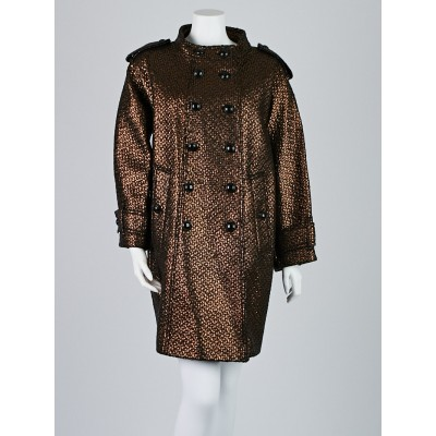 Burberry Gold Wool Blend Northampton Coat Size 14