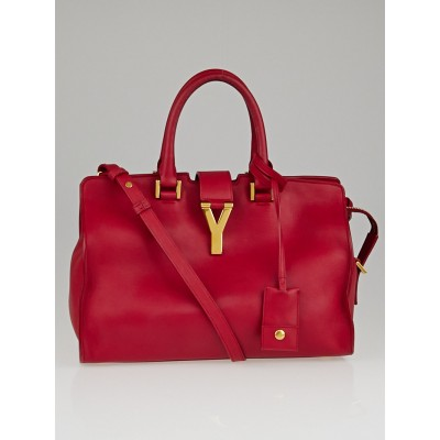 Saint Laurent Red Calfskin Leather Classic Small Cabas Y Bag