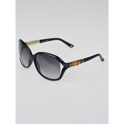 Gucci Black Frame Bamboo Sunglasses-3671/S