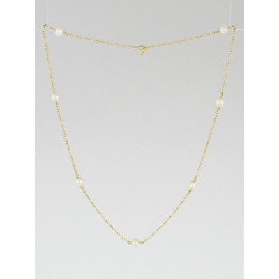 Tiffany & Co. 18k Gold and Pearl Elsa Peretti Pearls by the Yard Necklace