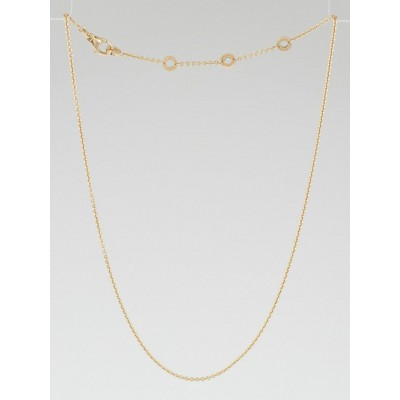 Bvlgari 18k Rose Gold Chain Necklace