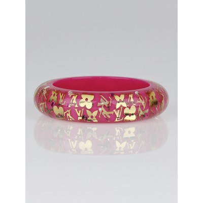 Louis Vuitton Pink Monogram Inclusion GM Bracelet